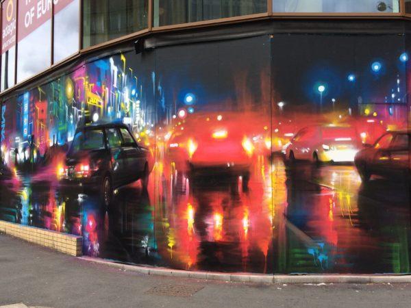 City of Colours artwork on the Adagio Hotel